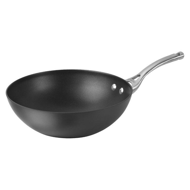 Calphalon Contemporary 10 Inch Non-stick Dishwasher Safe Stir Fry Pan, Dark Grey