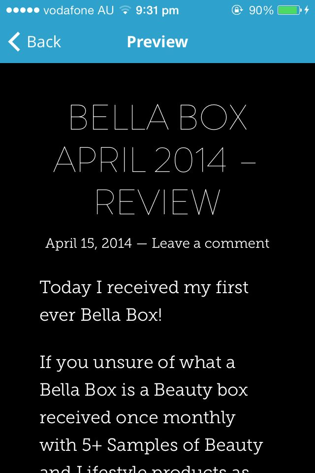Bella Box April 2014 - Review   At My Blog: abbiebrianna.wordpress.com