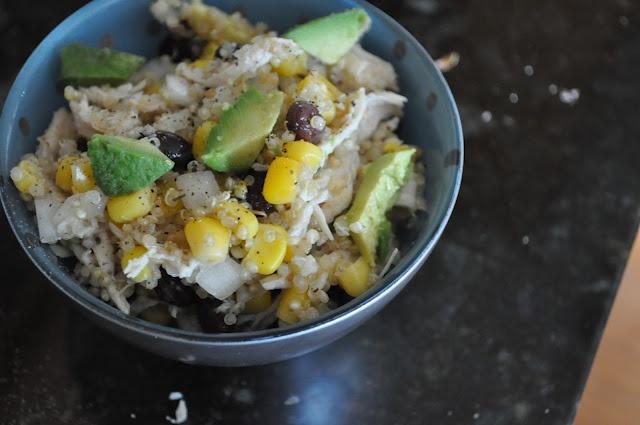 Just Us Four: Chicken Avocado Quinoa Salad