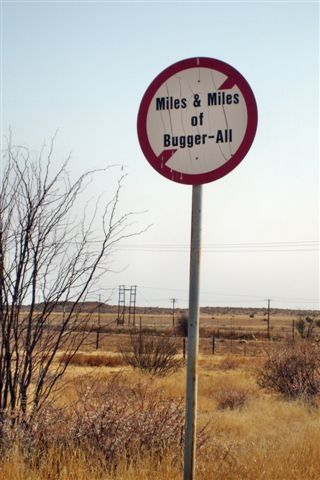 Just Outside Kimberley in S A. The Best of Getaway Funny Signs | Getaway Travel Blog