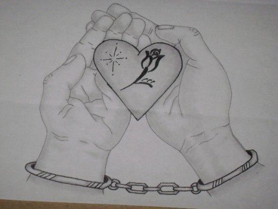 Imágenes Con Frases Chidas Para Celular De Amor Románticas: Corazones Para Dibujar De Amor A Lapiz