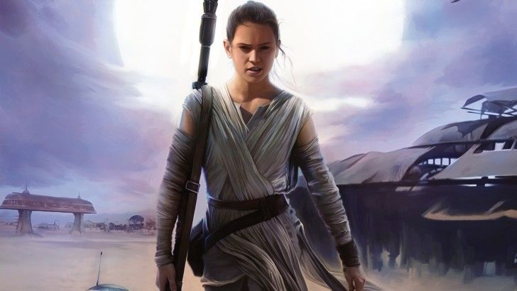 Download Rey Star Wars 7 the Force Awakens Girl Movie Art 2880x1800