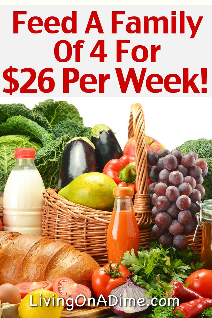 cheap healthy family meal ideas - feed a family of 4 for $26 per