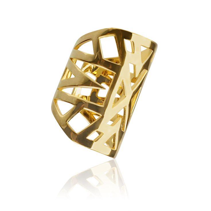 """Bague """"Lunéa"""" - Vélizance - Argent doré #Bijoux #Jewels #Silver #Gold #Design #Tendance #Bijou #FashionJewelry #Velizance"""