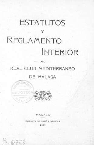 Estatutos y Reglamento Interior del Real Club M... (1911)