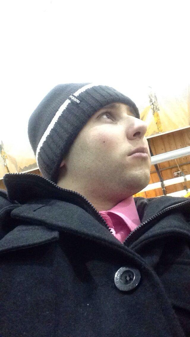 At the hockey rink