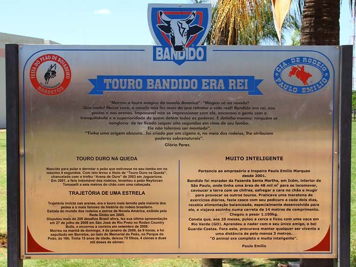 Memorial Touro Bandido - Barretos - Sao Paulo