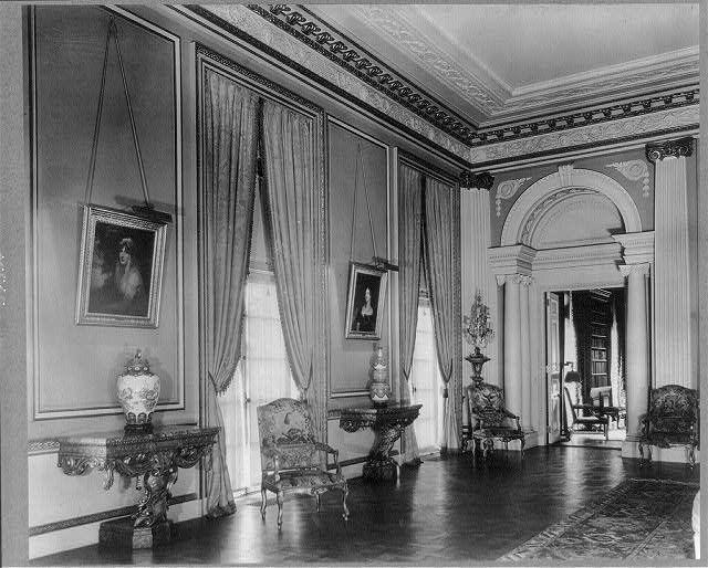 Ballroom facing the living room entry | Whitemarsh Hall ...