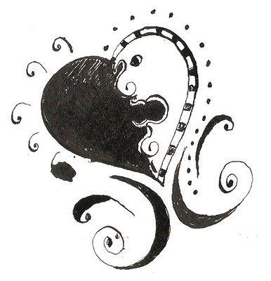 yen yang heart doodle