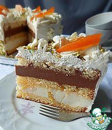 Бисквитный торт с апельсинами.