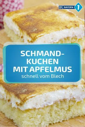 Schmandkuchen: fresh cake with applesauce and sour cream
