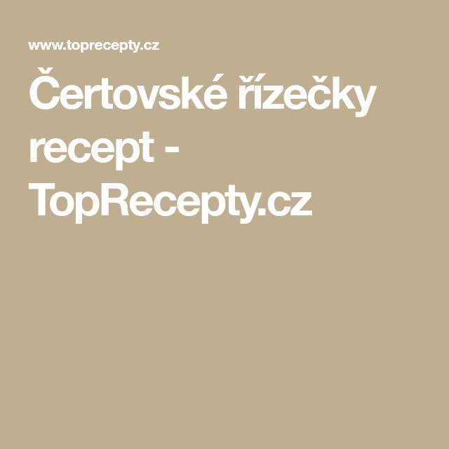 Čertovské řízečky recept - TopRecepty.cz
