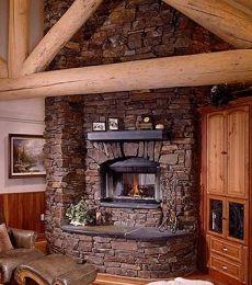 Corner Fireplace