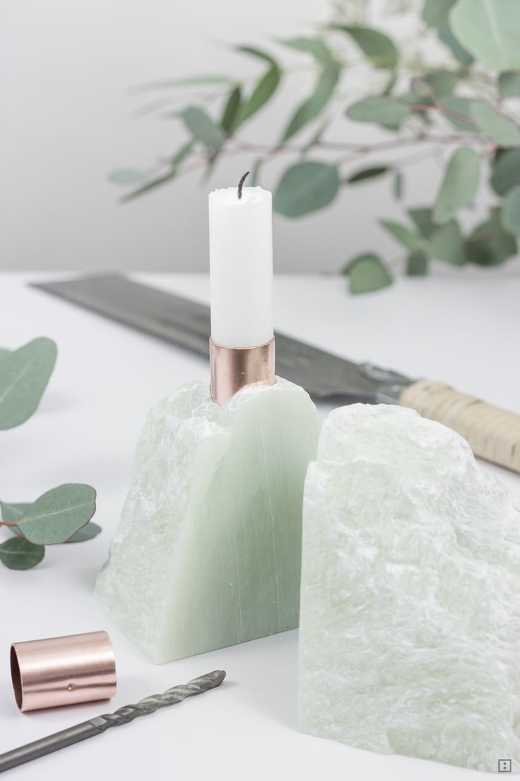 modern soapstone candle holder