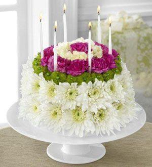 verjaardags bloementaart