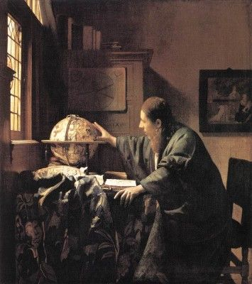 Top 10 Famous Pieces of Art Stolen by the Nazis 3. The Astronomer  Artist: Johannes Vermeer