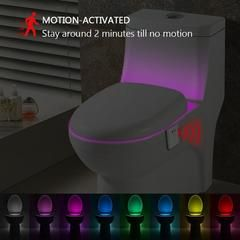 Amazing 8 Color Toilet Night Lamp LIMITED TIME ONLY! NOT SOLD IN STORES* Ships 2 to 5 days* Estimated shipping time 1 to 3 weeks Toilet Cover LED Intelligent Induction Sense Night Light For ClosestoolSets to color-rotate or single-color (8 color options)The soft glow will put an end to having to deal with being woken up by dazzling lights at midnight.Perfect for the elderly and children, as well as anyone who wakes up to use the bathroom at midnight.Motion-activated:It turns on when…