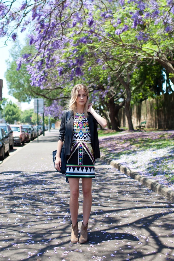 Sydney style snap: Lucy in a Sass  & Bide dress. Photo by Xiaohan Shen.