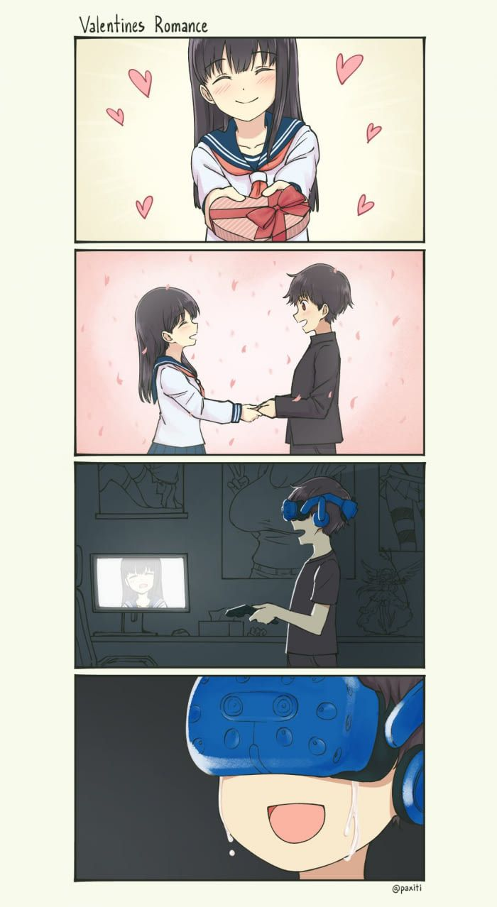 Valentines Romance Paxiti Anime Memes Funny Anime Funny Cute Comics