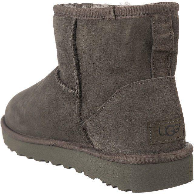 Sniegowce Damskie Ugg Ugg Szare Classic Mini Ii Grey Ugg Classic Mini Uggs Boots