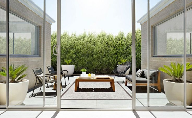 A relaxed alfresco space by Coco Republic Property Styling, perfect for entertaining #cocorepublic #minimalist #outdoor #living #styling #entertaining #interiordesign #relaxed #summer