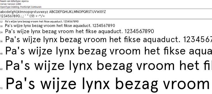 Typografie - Apercu