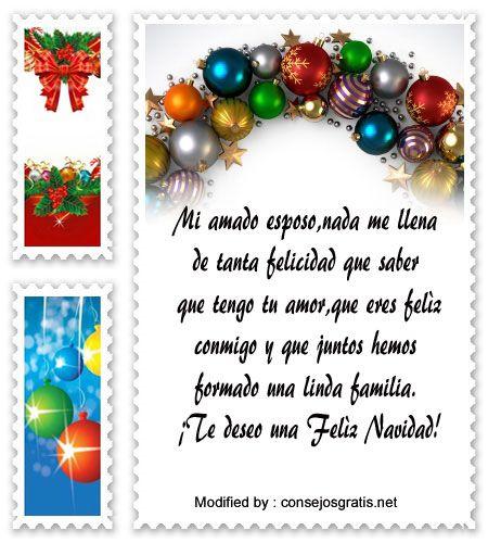 mensajes para enviar en Navidad, poemas para enviar en Navidad:  http://www.consejosgratis.net/frases-de-navidad-para-mi-esposa/