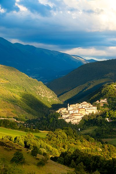 Medieval town of Preci in Umbria Italy