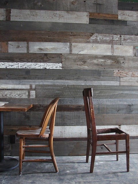 Would love a reclaimed wood feature wall- perheps in the entry. - 58 Best Next Project : Bedroom Images On Pinterest
