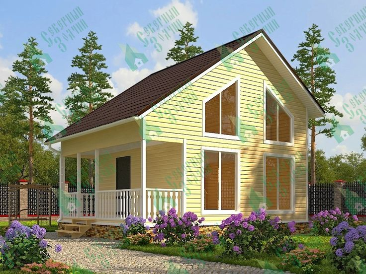 Каркасный дом 6 х 7,5 - цены и проекты в Санкт-Петербурге