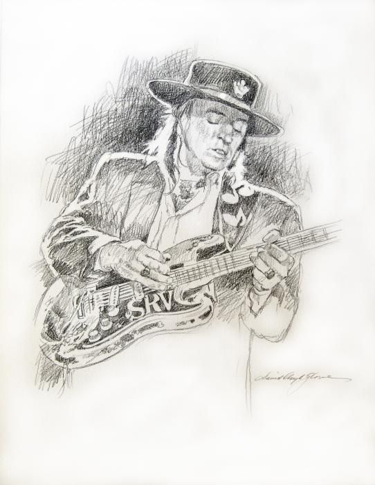Stevie ray vaughan texas twister watercolor paper for Stevie ray vaughan tattoo