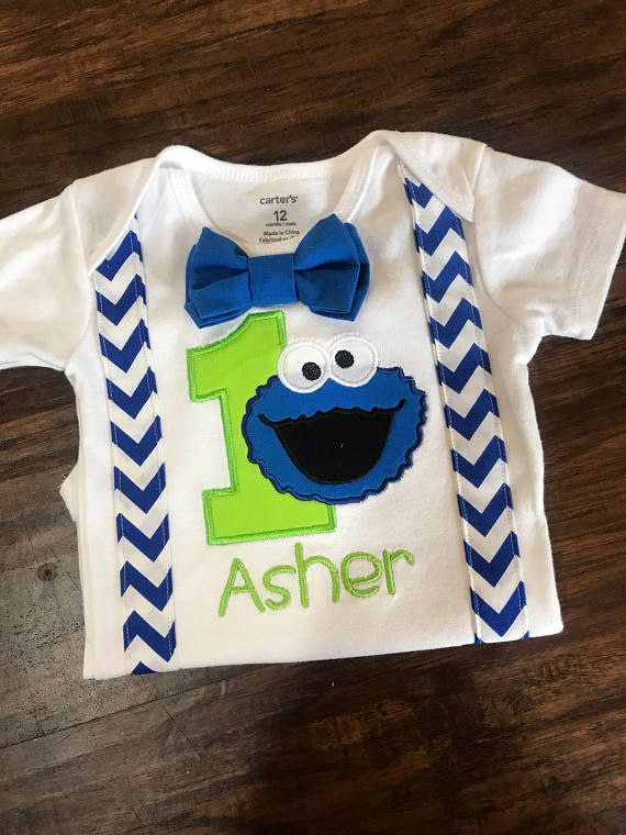 Cookie Monster Cake Smash Outfit Cookie Monster Birthday