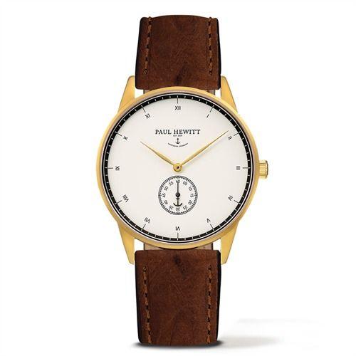 PAUL HEWITT Signature Line Mark I braun PH-M1-G-W-http://www.thejewellershop.com/ #paulhewitt #hewitt #signature #braun #leder #anker #schmuck #uhr #watch #jewelry