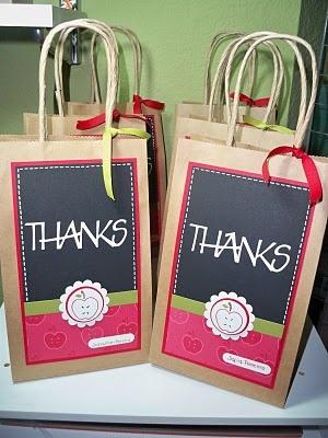 Bolsa de papel: Un buen vehículo para expresar agradecimiento