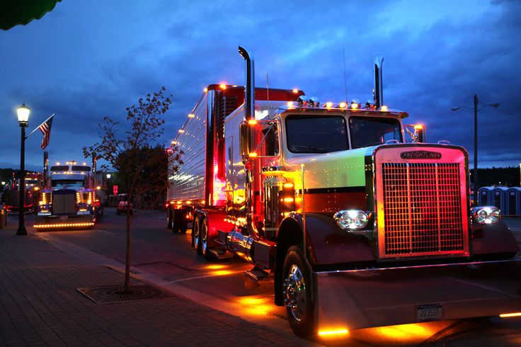 Semi Tractor Trailer Helping Inspect Lights : Best images about custom painted semi s on pinterest