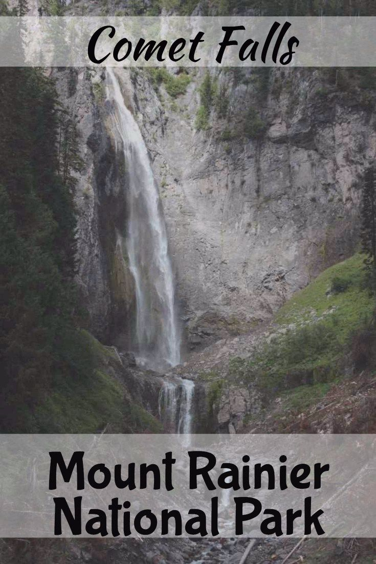 A great hike in Mount Rainier National Park. Click through for more photos and a trip report for this beautiful waterfall. Washington hiking, road trip, travel adventures.