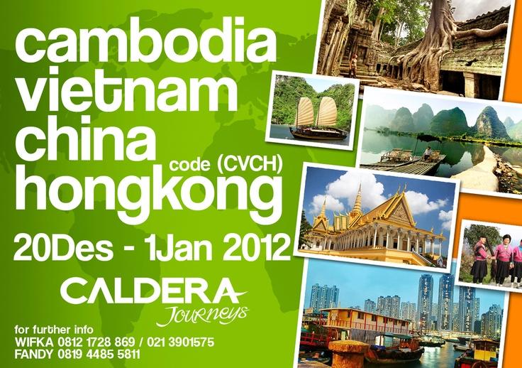 Cambodia. Vietnam. China. Hongkong