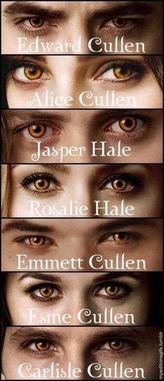 All cast member in Twilight who were vampires had to wear colored lenses. From their natural color, whether it was brown, green, or blue, using lenses made them a shade of yellow.