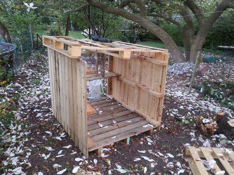 10 id er om poulailler en palette p pinterest - Construire son abri de jardin en palette ...