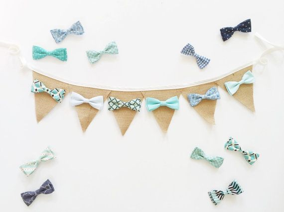 Boy 1st birthday high chair banner. Bow tie by LindseyLeeandCo
