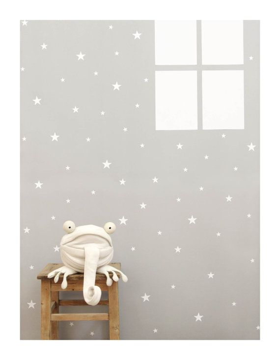 Stickers muraux star blanc sticker mural autocollant par tayostudio