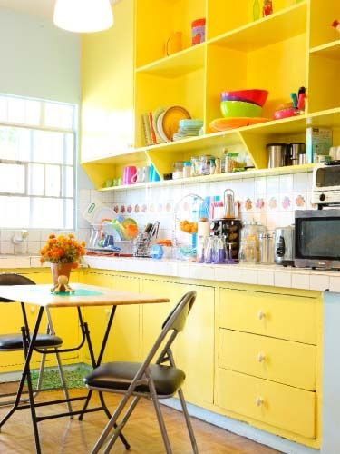 Vintage yellow kitchens lemon-freeze