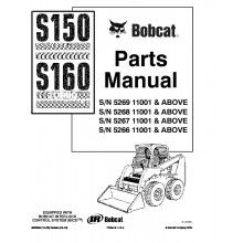 Bobcat S150, S160 Turbo Skid Steer Loader Parts Manual PDF