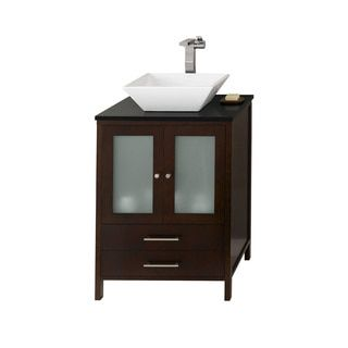 Shop for Ronbow Juno 24-inch Bathroom Vanity Set in Dark Cherry. Get free delivery at Overstock.com - Your Online Furniture Outlet Store! Get 5% in rewards with Club O!