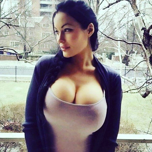 Girls boobs popping out of shirt