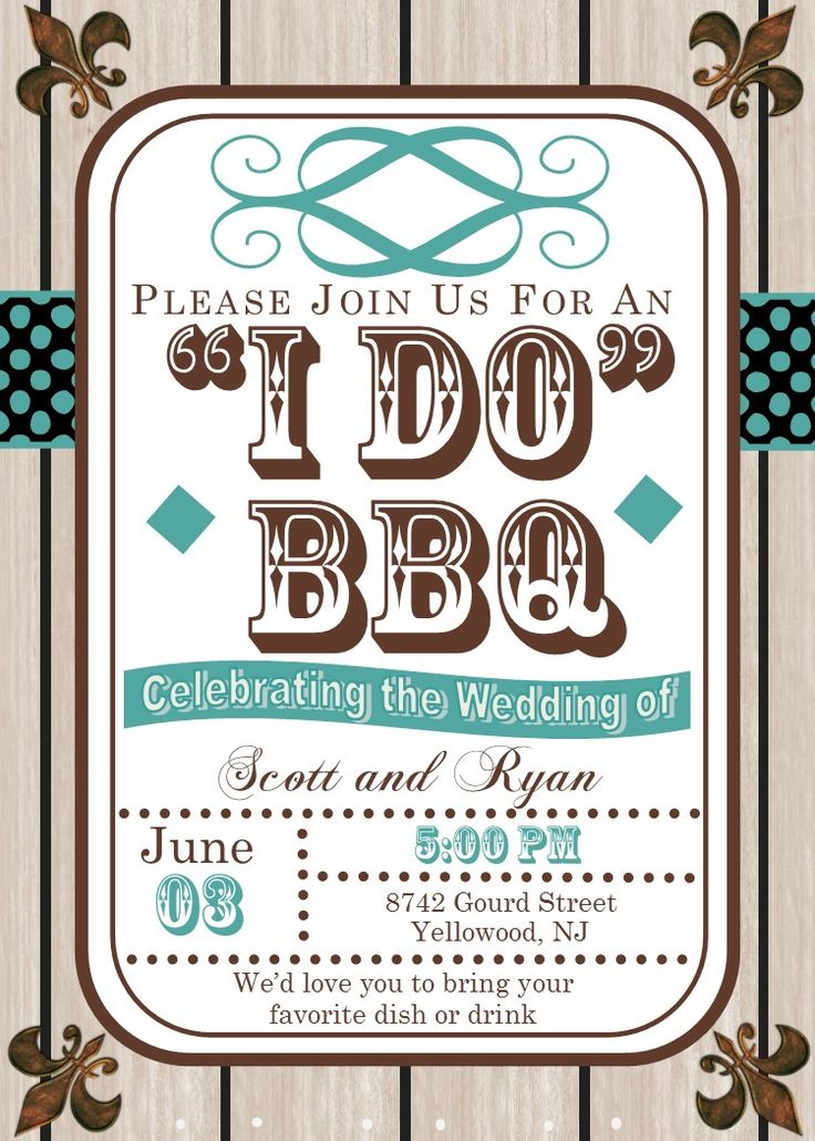 After the Wedding Party Invitations or Elopement Party invitations rustic wood grain