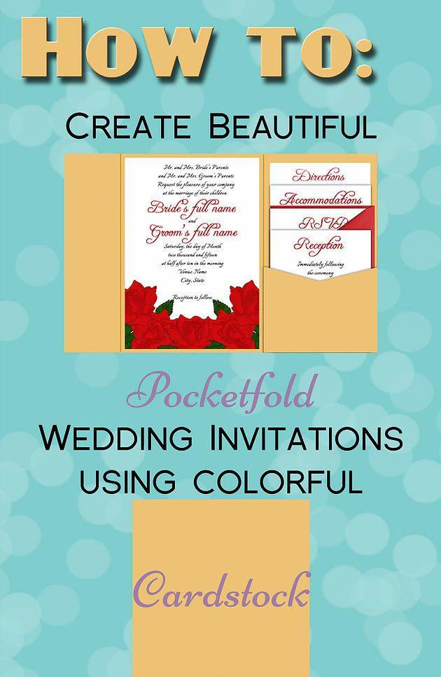 How To: Make your Own Pocketfolds | Custom Wedding Invitations by Anton Digital Designs