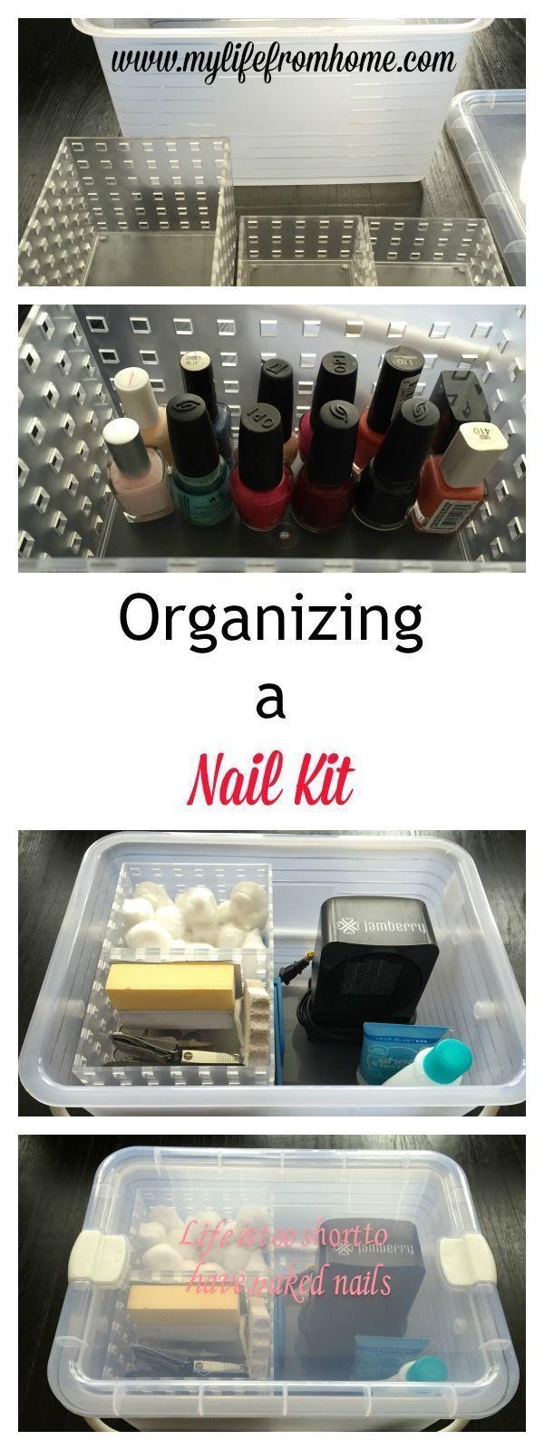 Organisieren eines Nagelpflege-Kits #organizing – Nagellack Aufbewahrung