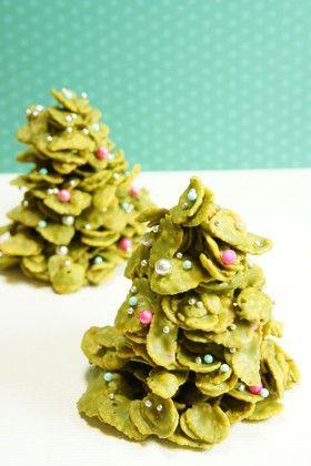 抹茶チョコフレークのクリスマスツリー☆