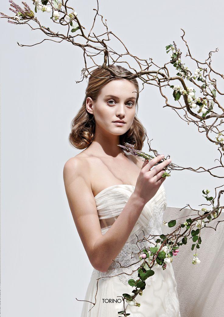 """Collezione Privée 2015 - Elisabetta Polignano Modello """"Torino: abito da sposa con top drappeggiato #wedding #weddingdress #weddinggown"""